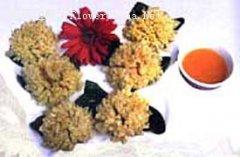 菊花食用法:巧炸脆皮菊花